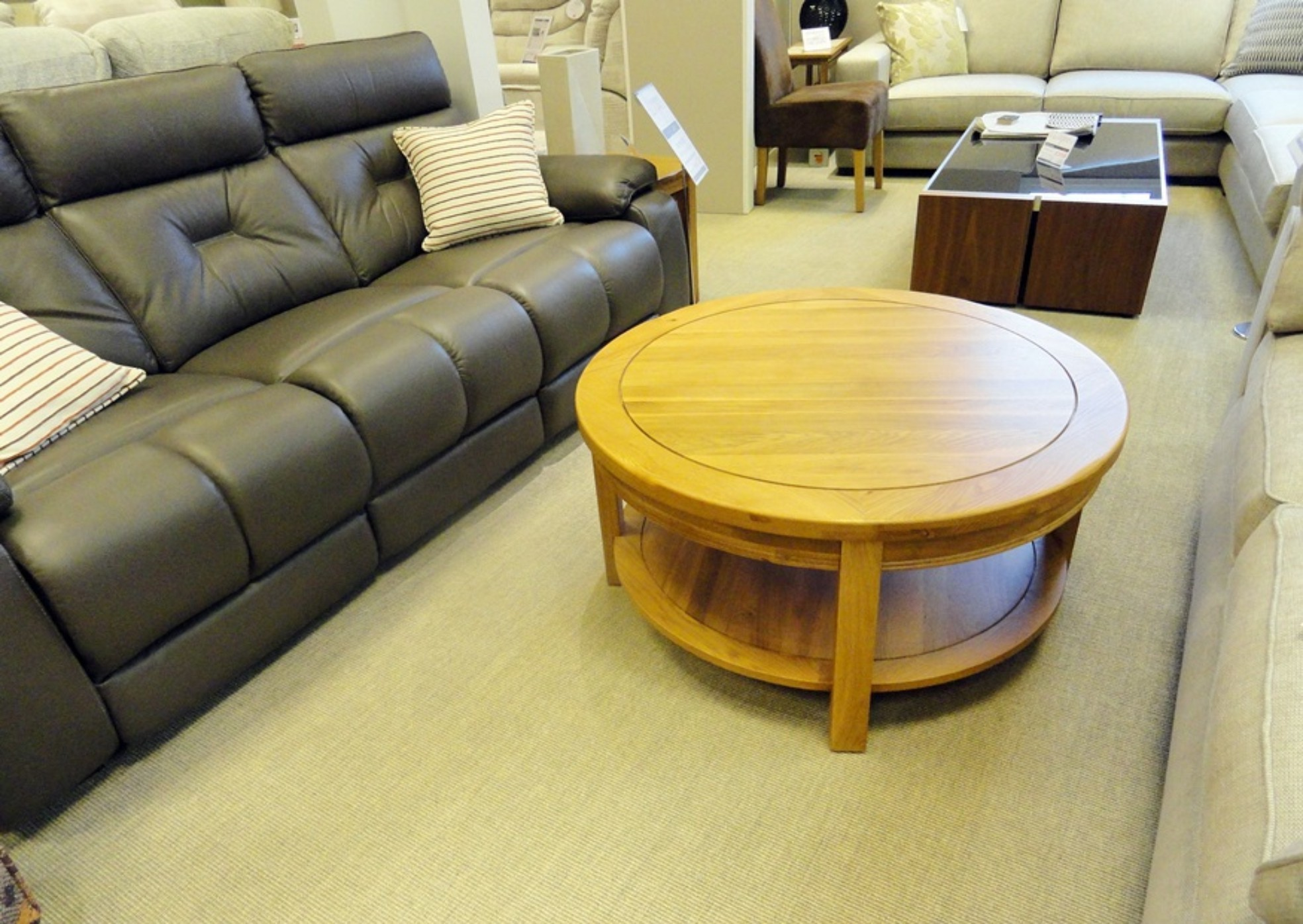 - Oxford Round Oak Coffee Table - Donaldsons Furnishers