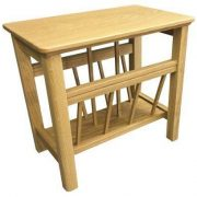 BMT07 S Solid Top Magazine Table in Oak