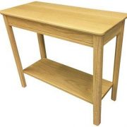 BMT11 S Solid Top Sofa End Table in Oak
