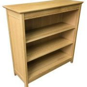 BMT20 S Matt Oak Solid Top Small Bookcase