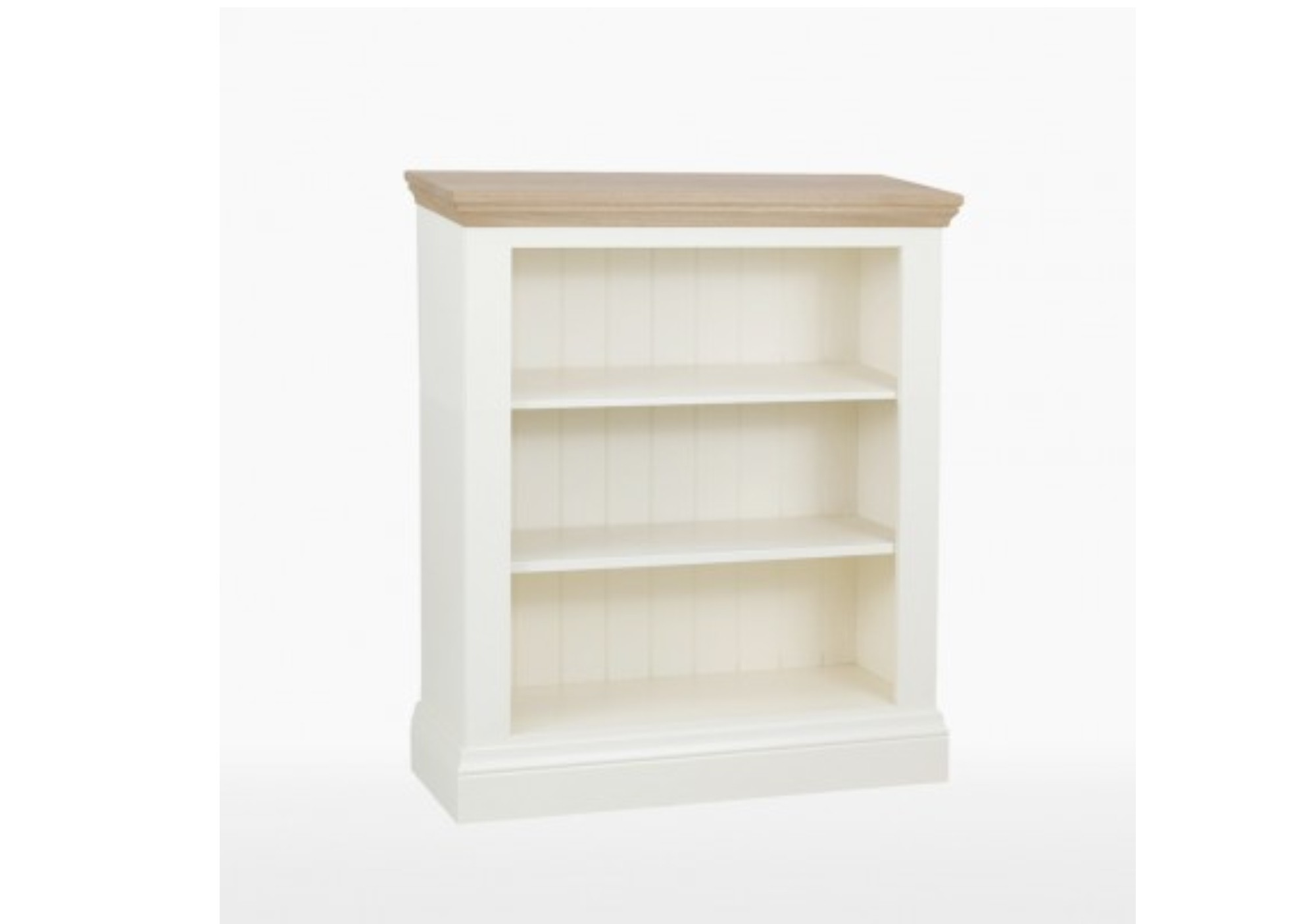 Coelo Painted 2 Shelf Low Bookcase Donaldsons Furnishers