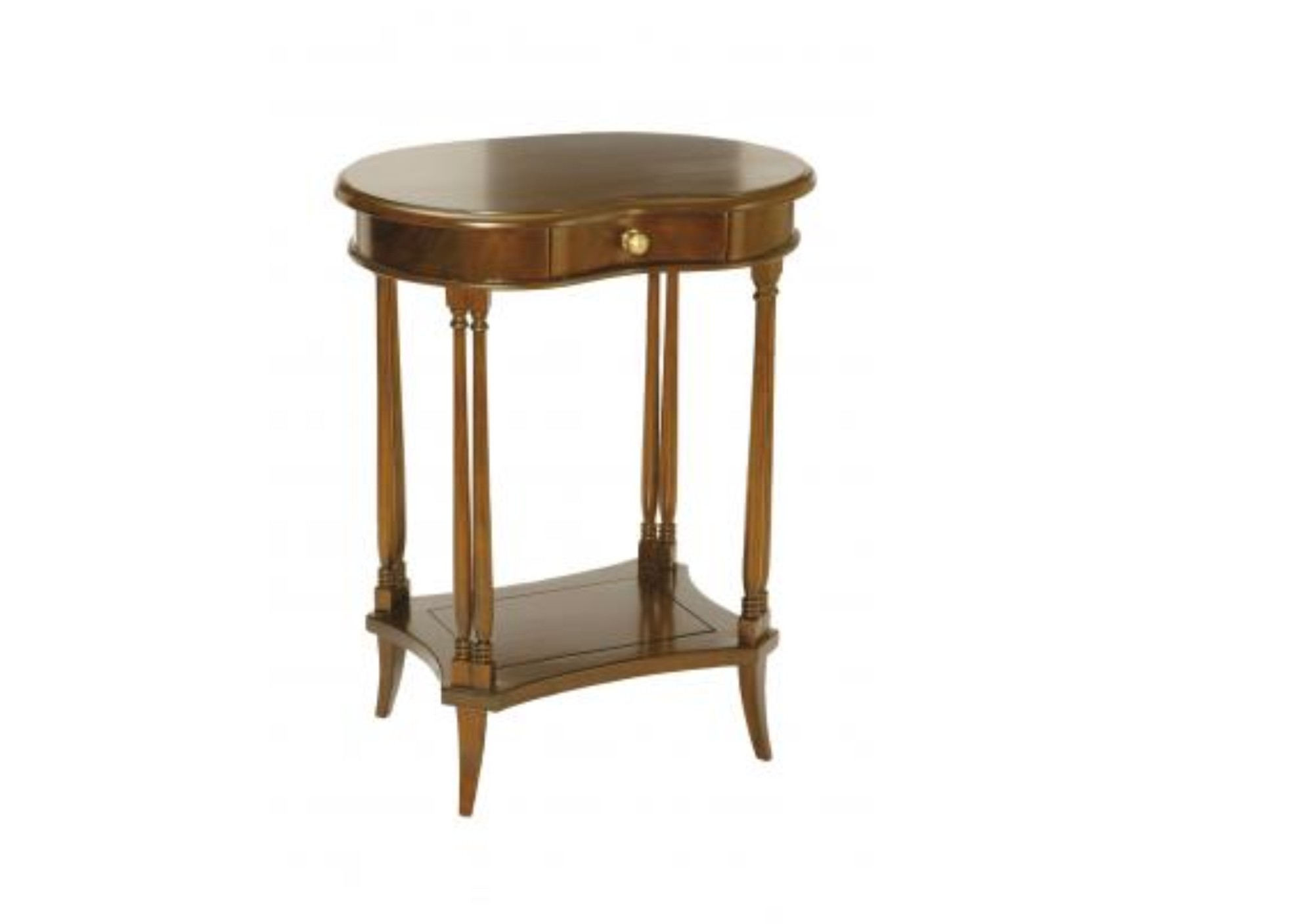 Mahogany Kidney Side Table