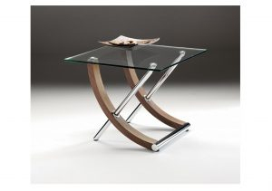 Tusk Glass Lamp Table
