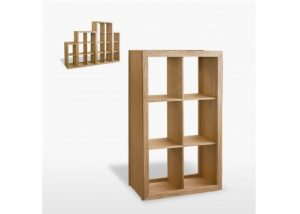 Windsor 6 Shelf Cube Bookcase