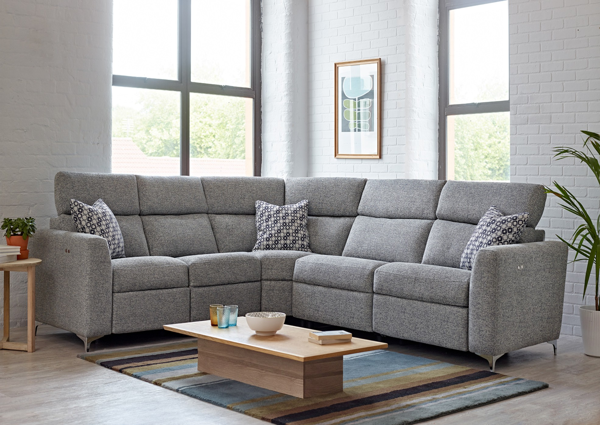 Elan Corner sofa 2 str 3 str fabric