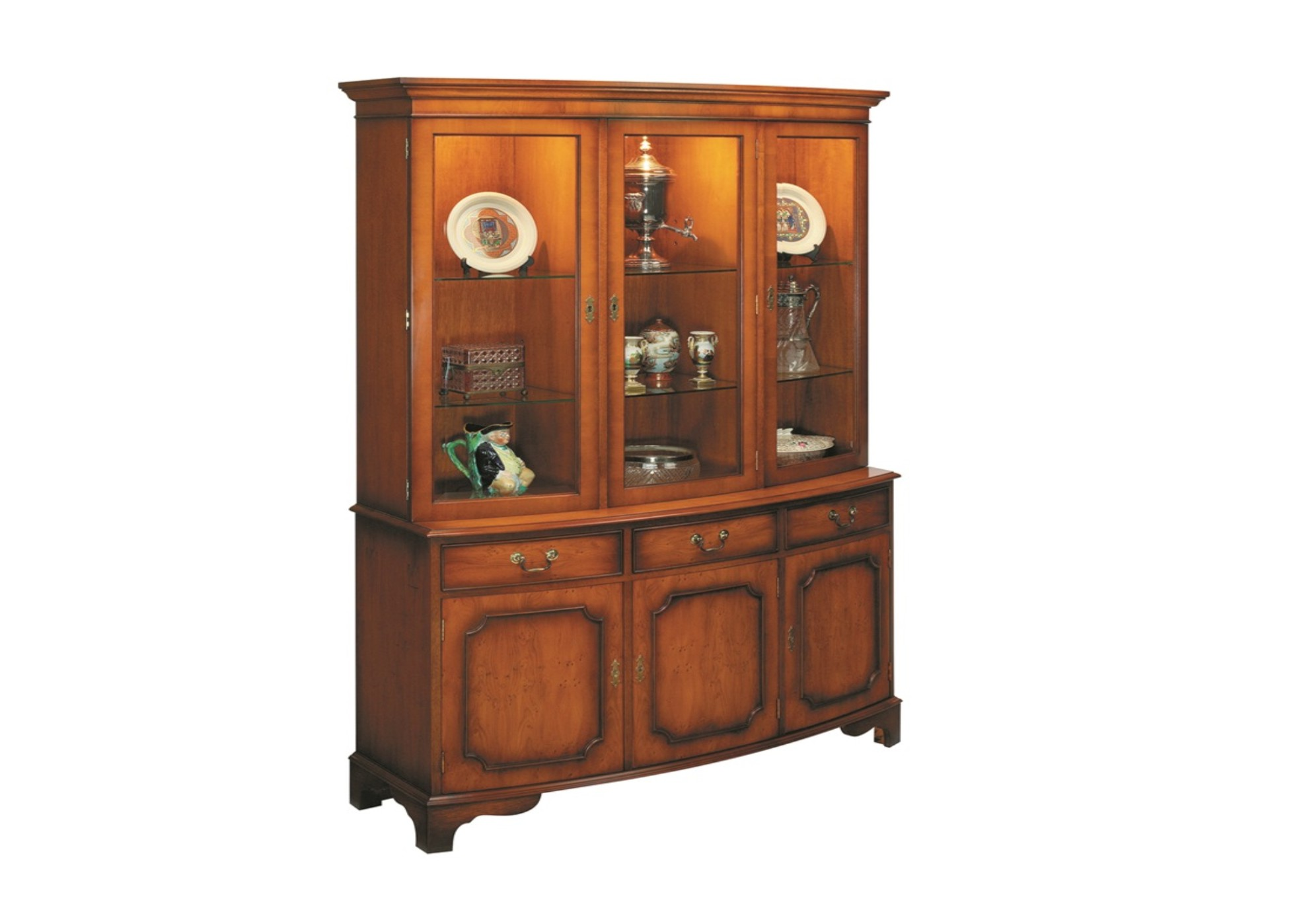 Bradley Bow Front Medium Display Cabinet