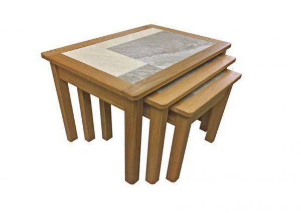 Beaumont Tile Top 3 Nest Table