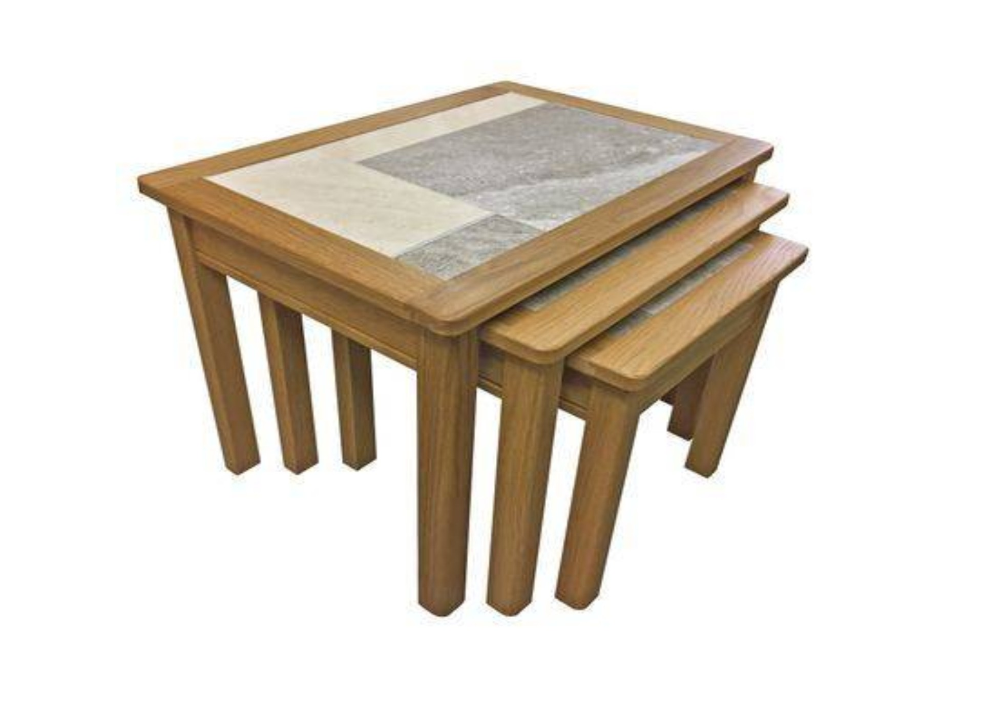 Beaumont Tile Top 3 Nest Table