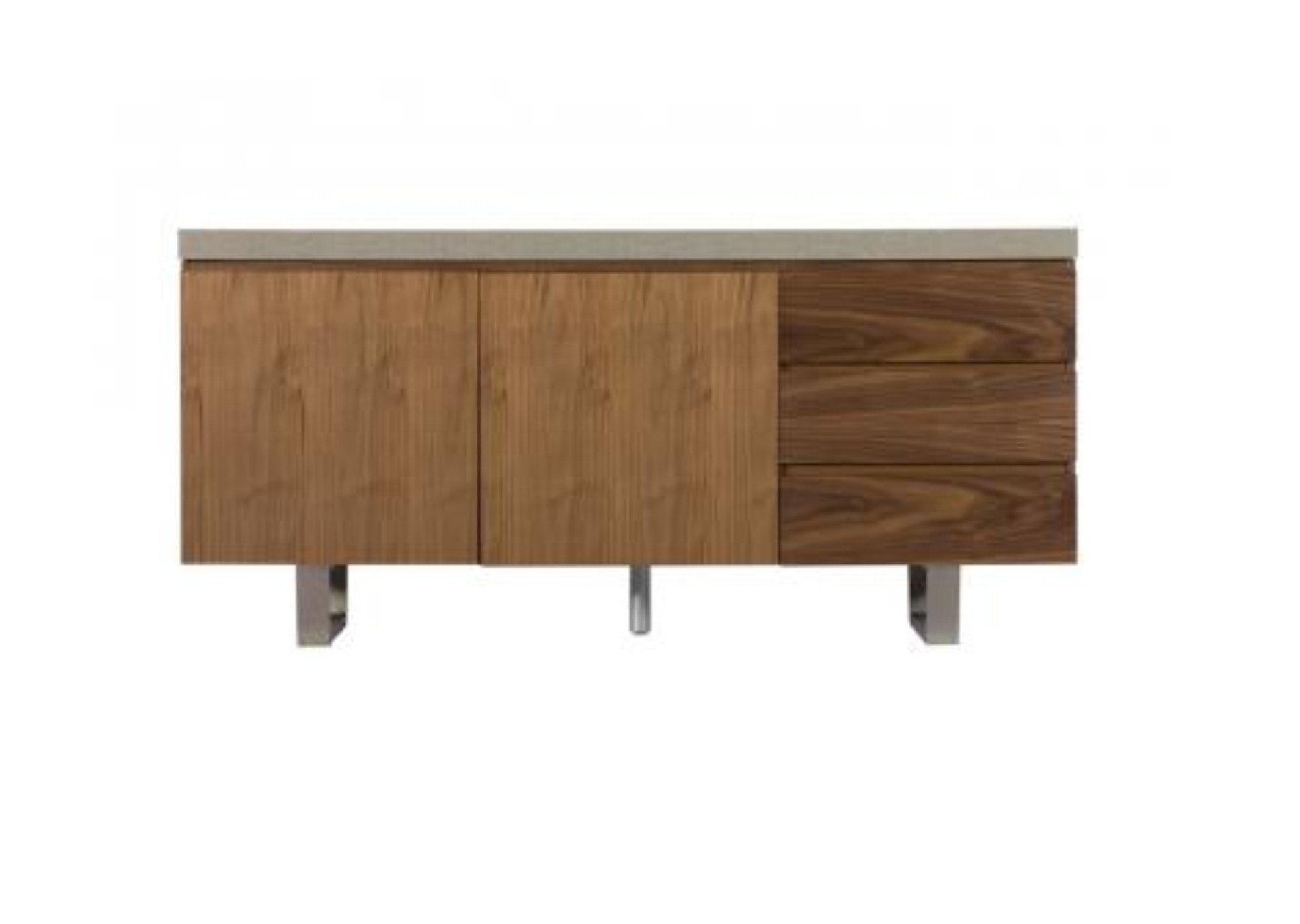 petra wide sideboard industrial style pieces mixed walnut and steel. Black Bedroom Furniture Sets. Home Design Ideas