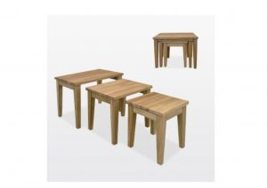 Windsor Oak Nest Tables
