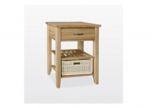 Windsor Oak Single Basket Console Table