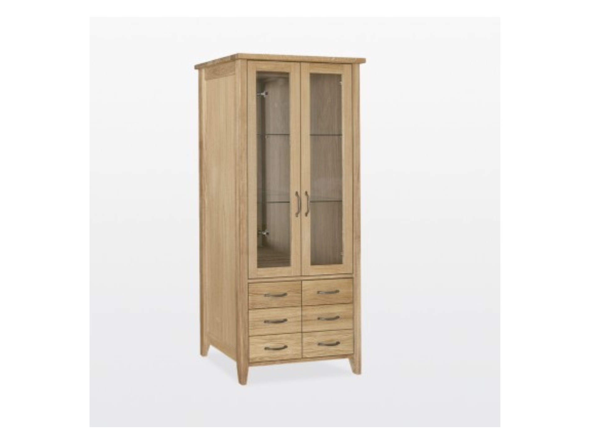 Windsor Oak Glass Display Cabinet