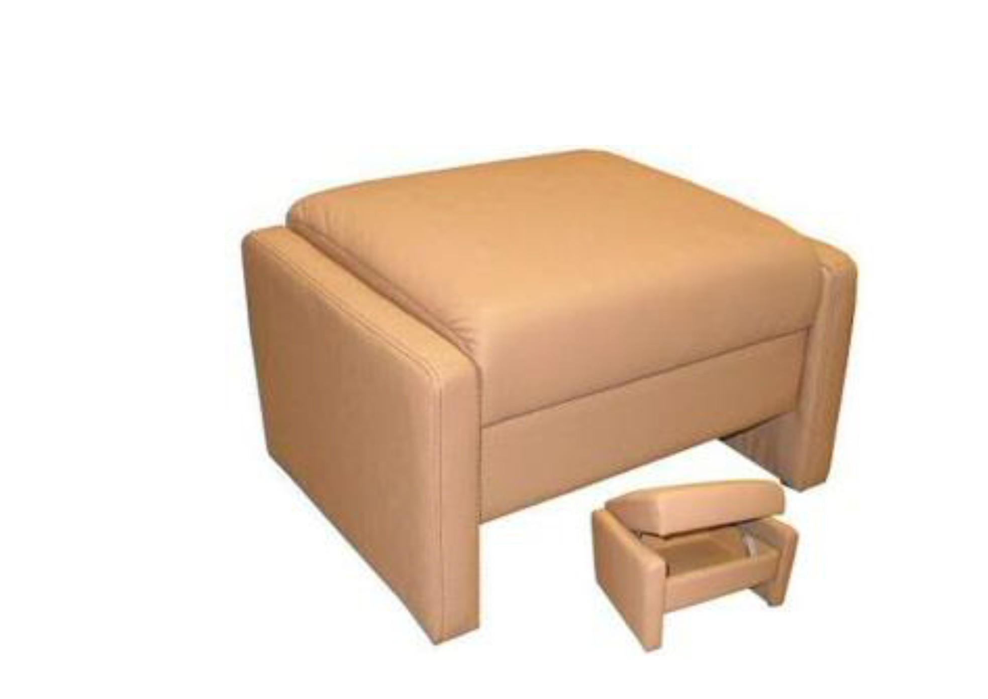Brennand Cygnet Himolla Storage Stool Leather Fabric