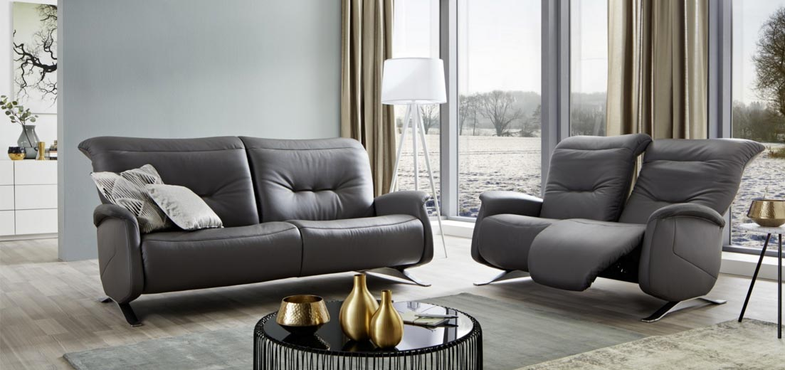 Discover himolla quality upholstered and leather curved sofas recliners