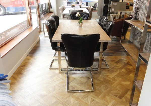 Prada Dining Table and 6x Chairs Clearance