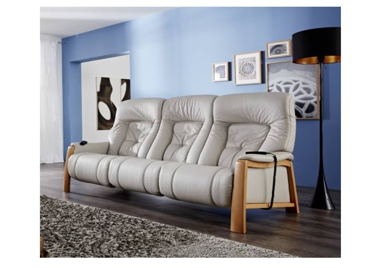 Pleasant Himolla Themse 3 Seater Cumuly Leather Upholstery Wood Onthecornerstone Fun Painted Chair Ideas Images Onthecornerstoneorg