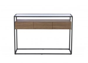 Panama Glass Walnut Console