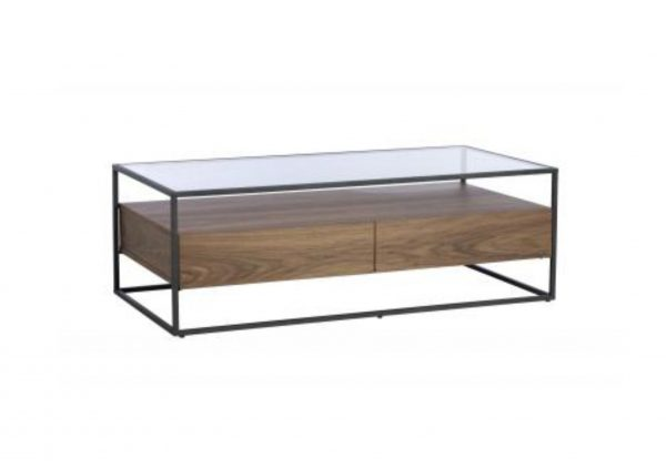 Panama Coffee Table Walnut and Glass