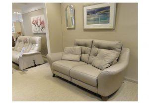 Gplan Pip Leather 2 Str Sofa clearance