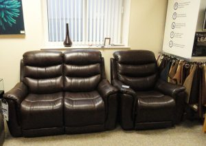 Sheridan Leather Sofa Full Set Clearance