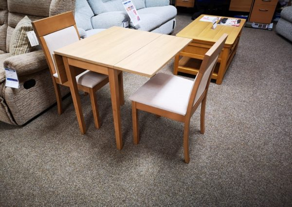Tufftable Drop Leaf Small Kitchen Table Clearance