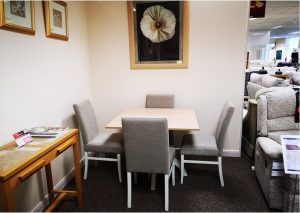 Tufftable Square Kitchen Table and 4x chairs Clearance