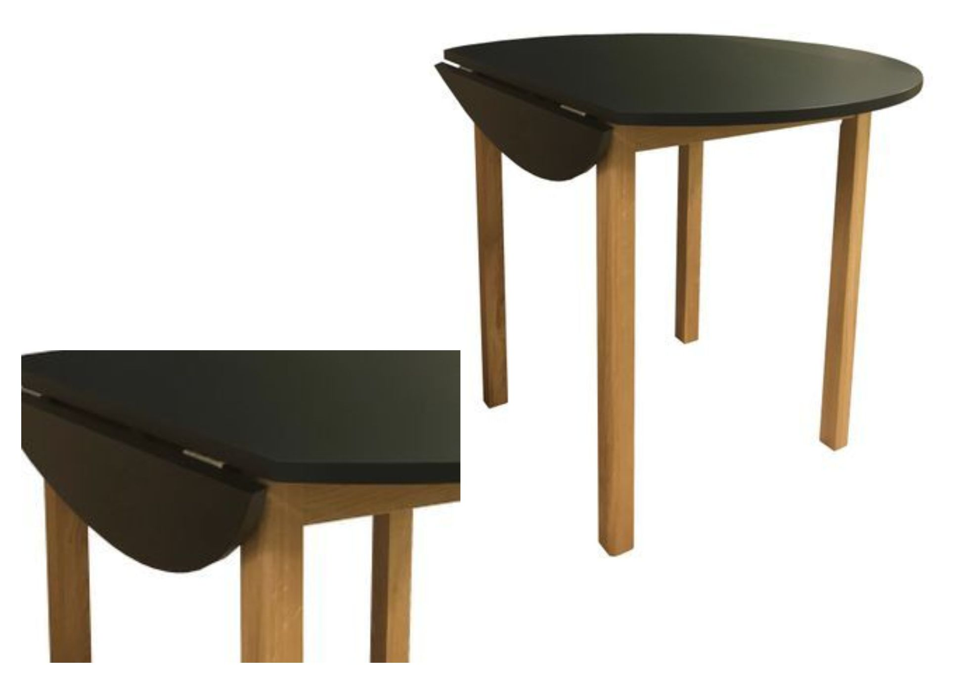 Duratop Round Large Drop Leaf Kitchen Table Solid Top Options