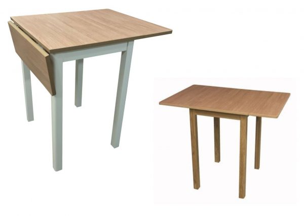 DuraTop Square Drop Leaf Kitchen Table Wood