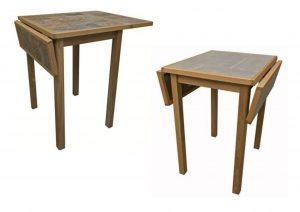 DuraTop Square Drop Leaf Kitchen Table Tile