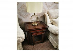 Mahogany Nest Table Clearance